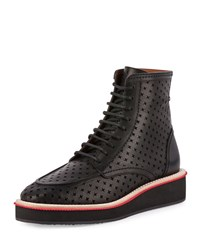 Perforated Cross Platform Boot Black Givenchy