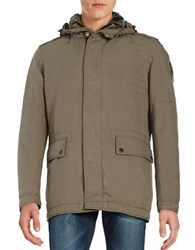 Strellson Original Edition Wool Blend Lined Utility Jacket Taupe