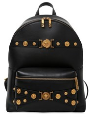Versace Tribute Leather Backpack Black