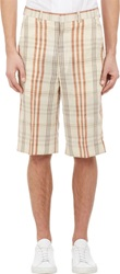 Duckie Brown Plaid Walking Shorts Nude Size 28