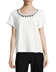 Max Mara Causal Short Sleeve Blouse White