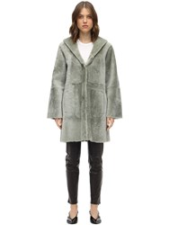 Drome Reversible Hooded Merinillo Coat Grey