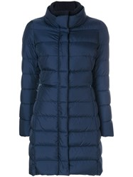 Herno Padded Coat Feather Down Polyamide Blue