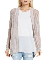 Bcbgeneration Open Knit Long Sleeve Cardigan Light Mocha
