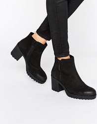Vagabond Grace Black Leather Ankle Boots Black