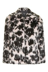 Topshop Sweet Dreams Faux Fur Coat Pink