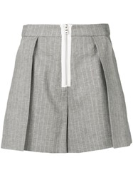 Pinko Pleated Short Shorts Grey