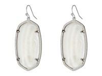 Kendra Scott Danielle Silver Rhodium White Mother Of Pearl Earring