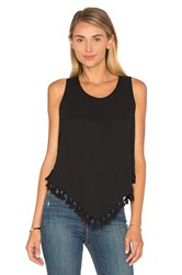 Eight Sixty Fringe Hem Tank Black