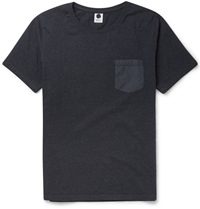 Nn.07 Contrast Pocket Cotton Jersey T Shirt Blue
