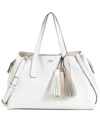 Guess Trudy Girlfriend Large Satchel White