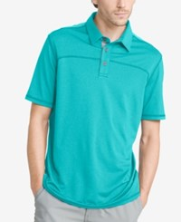 G.H. Bass And Co. Men's Performance Polo Peacock Blue Heather