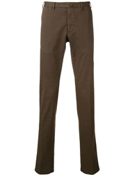 Dell'oglio Slim Fit Cropped Chinos Brown