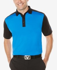 Callaway Men's Big And Tall Colorblocked Performance Polo Magnetic Blue