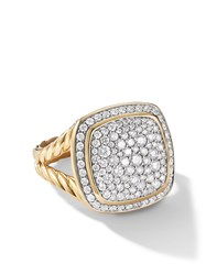 David Yurman 18Kt Yellow Gold Albion Diamond Ring 88Adi