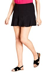 City Chic Plus Size Women's Weekender Shorts Black