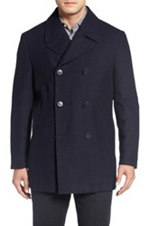 Nordstrom Classic Wool Blend Peacoat Blue