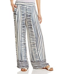 Miraclebody Jeans Miraclebody By Miraclesuit Petra Striped Wide Leg Pants Indigo