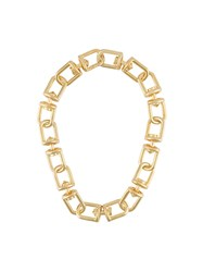 Eddie Borgo Short Chain Necklace Metallic