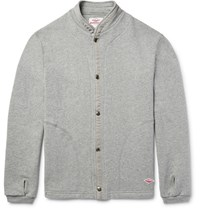 Battenwear Loopback Cotton Jersey Cardigan Gray