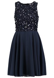 Lace And Beads Hazel Cocktail Dress Party Dress Navy Blue