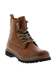 Blackstone Leather Lace Up Boots Cuoio