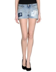 Two Women In The World Denim Shorts Blue
