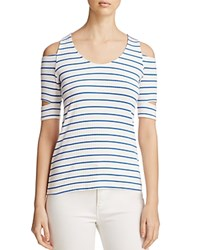 Red Haute Cutout Striped Tee Pacific