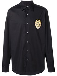 Roberto Cavalli Logo Patch Shirt Black