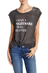 Pam And Gela Frankie Nightmare Burnout Tee Gray