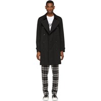 Burberry Black Kensington Heritage Trench Coat