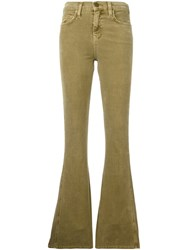 Current Elliott 'The High Rise Low Bell' Jeans Green
