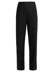 N 21 Piped Seam Lace Trousers Black