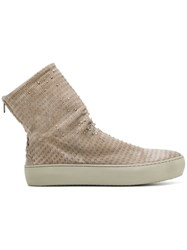 The Last Conspiracy Creased Zipped Boots Horse Leather Rubber Leather Grey