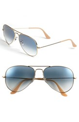 Women's Ray Ban 'Original Aviator' 58Mm Sunglasses Gold Blue Gradient