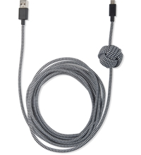 Native Union Zebra Micro Usb Night Cable