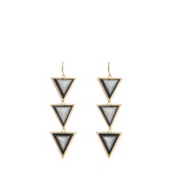 Isharya Op Art Pyramid Quartz Earrings