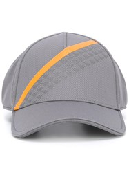 Emporio Armani Striped Cap Grey