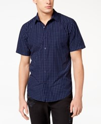 American Rag Men's Park Mini Check Shirt Created For Macy's Deep Royale