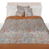 Etro Azhaiba Quilted Bedspread 270X270cm Gold