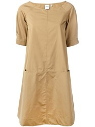 Aspesi Panelled Shift Dress Nude Neutrals