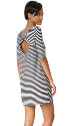 Free People Frenchie Striped Tee Dress Black Combo
