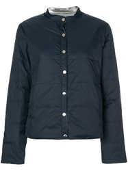 Emporio Armani Reversible Puffer Jacket Blue