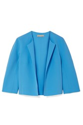 Michael Kors Collection Stretch Wool Crepe Jacket Light Blue