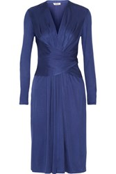 Issa Phylis Silk Blend Jersey Dress Royal Blue