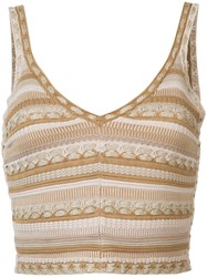 Alice Olivia Fitted Vest Top Nude Neutrals