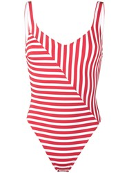 Araks Harley Striped Swimsuit Women Nylon Polyamide Spandex Elastane S Red
