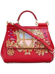 Dolce And Gabbana 'Sicily' Tote Red