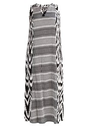 Evans Zebra Stripe Maxi Dress Black White