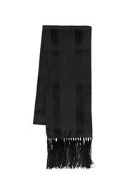 Dsquared Striped Silk Jacquard Fringed Scarf